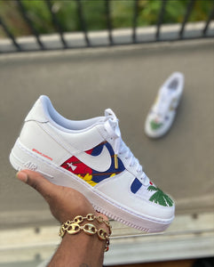 Custom Haitian Themed Air Force 1s - Kiaun's Customs