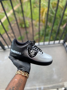 Custom Las Vegas Raiders Themed AF1s - Kiaun's Customs