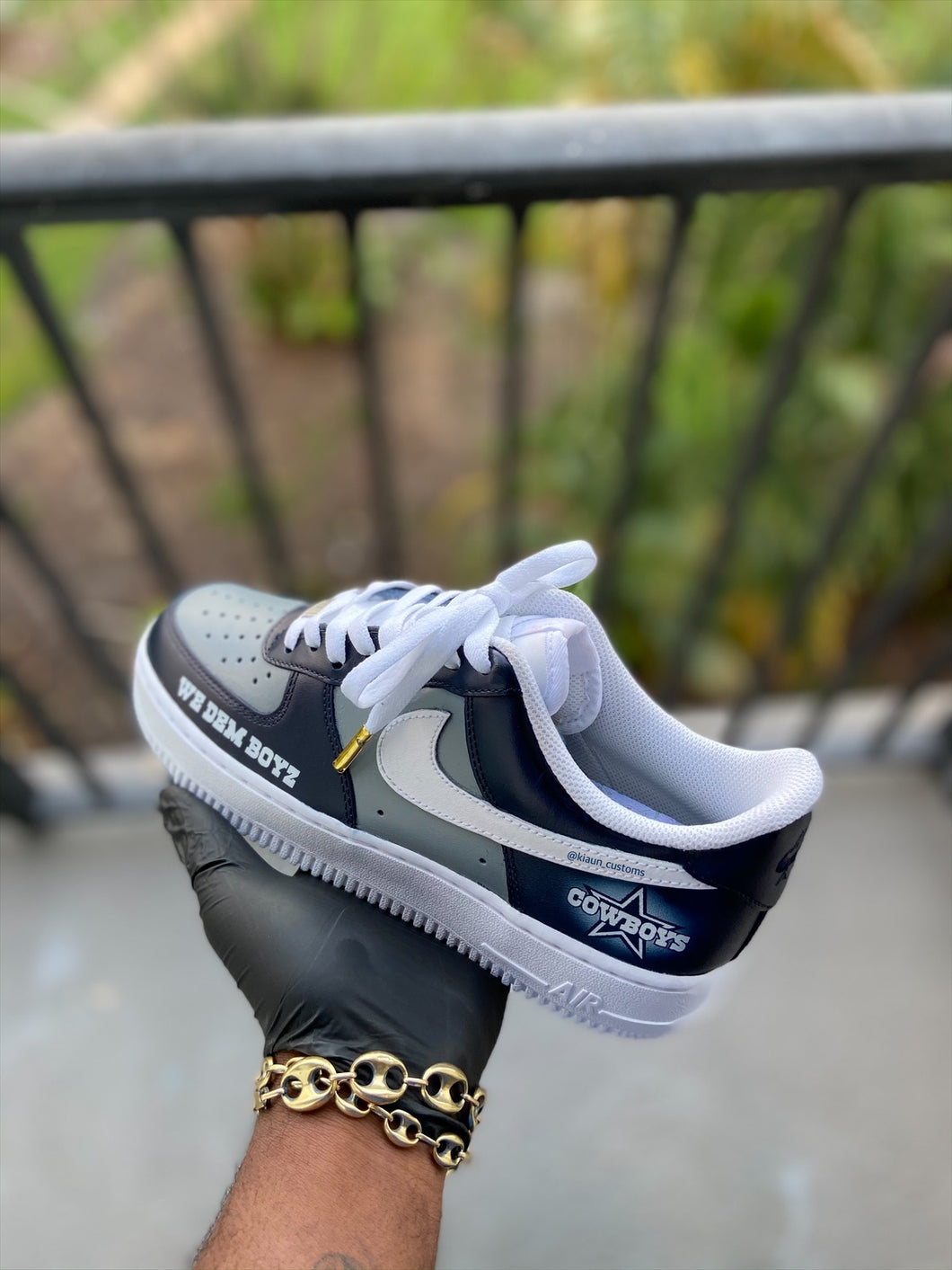Custom Dallas Cowboys Themed Af1s - Kiaun's Customs