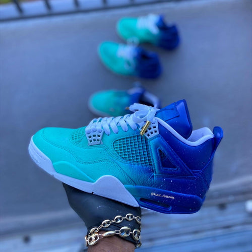 Custom  Turquoise Retro 4s - Kiaun's Customs