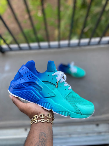 Custom Turquoise Huaraches - Kiaun's Customs