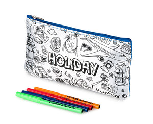 Colour Me In Holiday Pencil Case