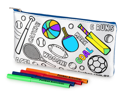 Colour-In Sporty Pencil Case