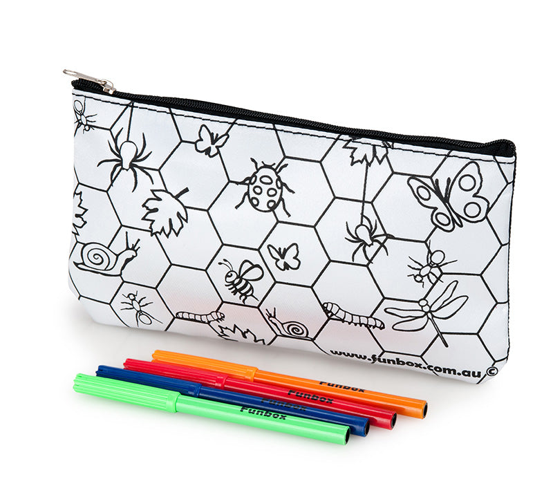 Colour-In Insect Pencil Case