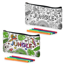 Load image into Gallery viewer, Colour-In Jungle Pencil Case