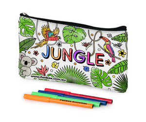 Colour-In Jungle Pencil Case