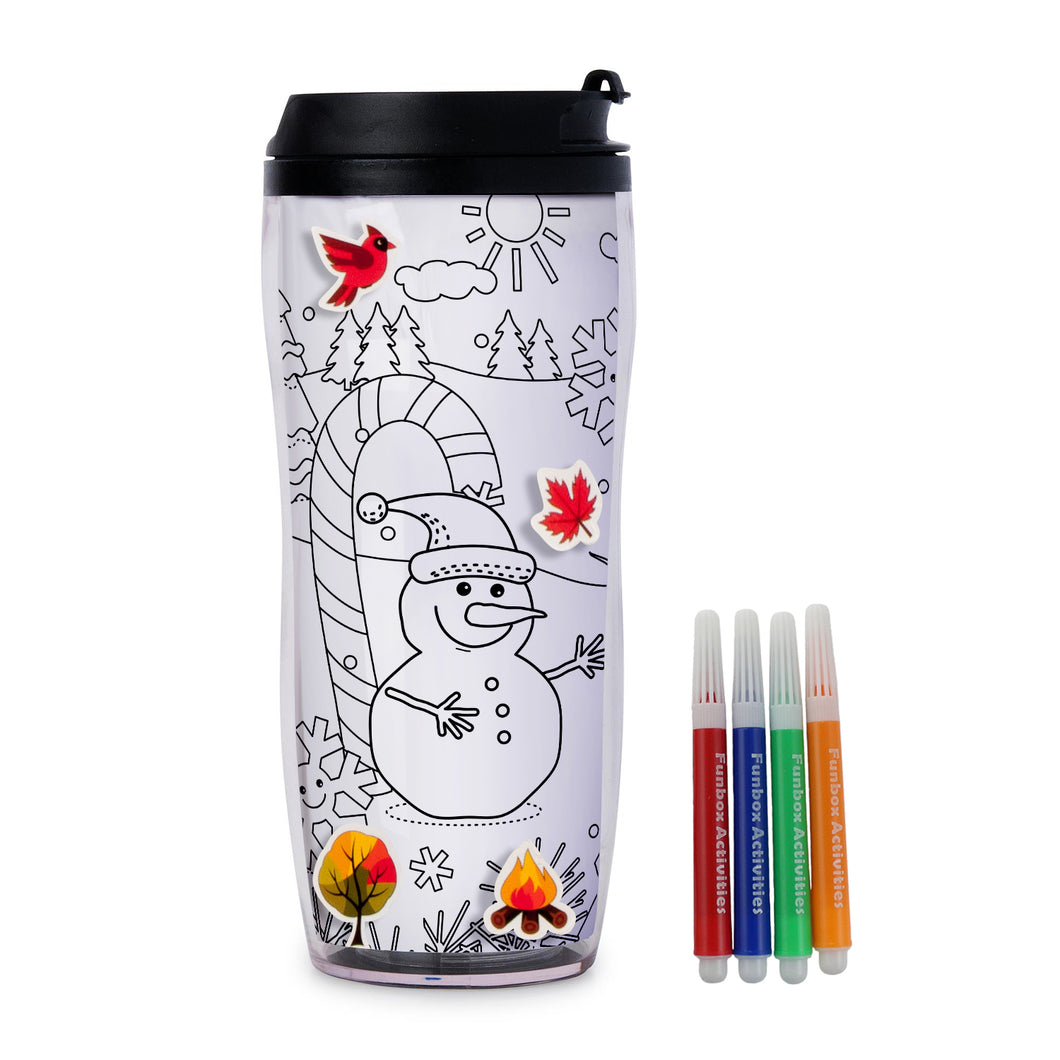 Colour-In Winter Travel Mug