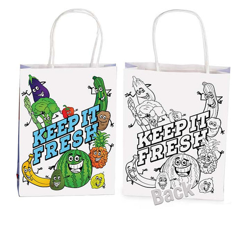 Healthy Eating Activity Bag with Activity Sheets, Markers and 3D Glasses