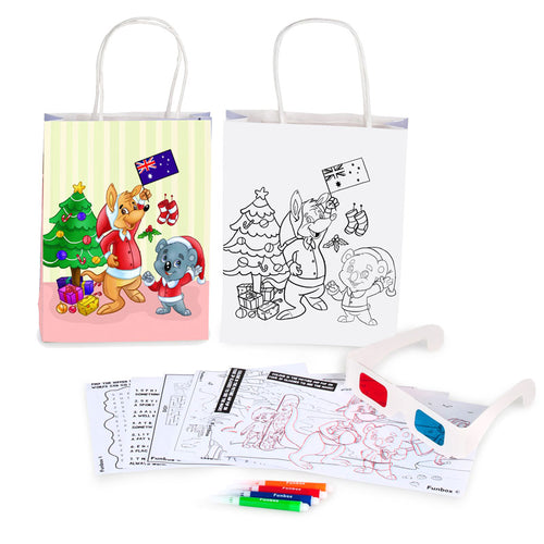 3D Christmas Activity Bag with Activity Sheets