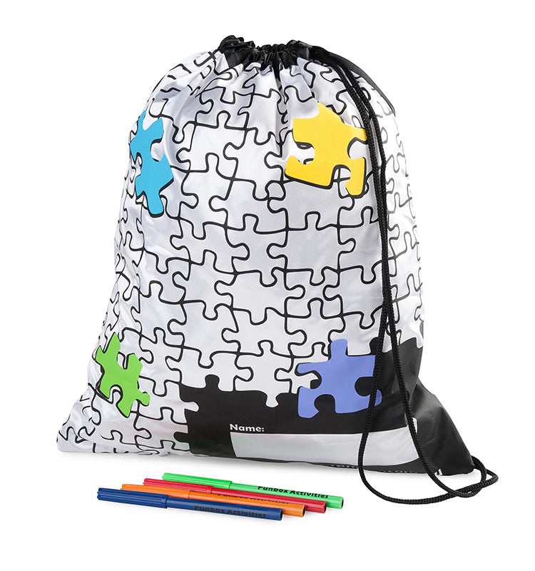 Puzzle Design Draw String Bag
