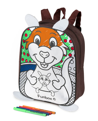 Kangaroo Colour-Me-In Backpack