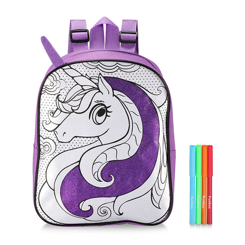 Colour Me In Unicorn Backpack