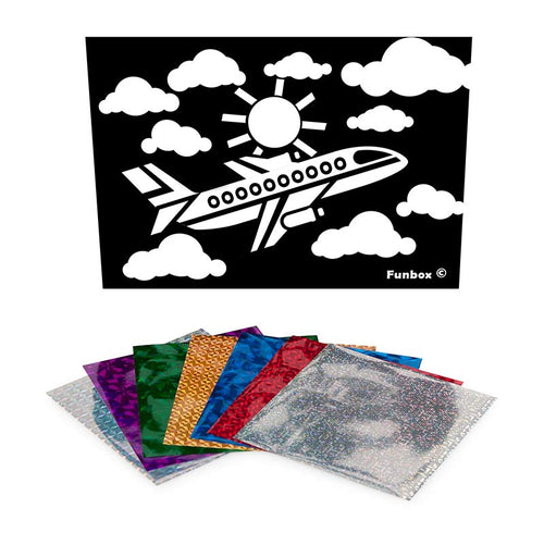 Plane Foil Art Activity Pack