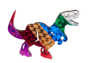 Amazing Dinosaur Foil Art Bag Tag