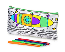Load image into Gallery viewer, Rocket Ship Pencil Case
