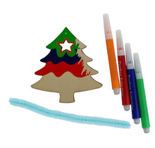 Load image into Gallery viewer, Wooden Christmas Tree Decoration