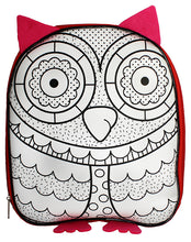 Load image into Gallery viewer, Owl Colour-In Backpack From $2.95