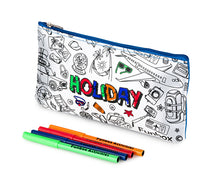 Load image into Gallery viewer, Colour Me In Holiday Pencil Case