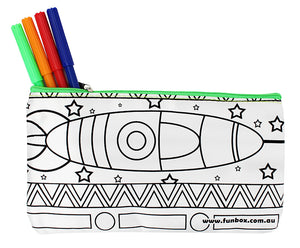 Rocket Ship Pencil Case