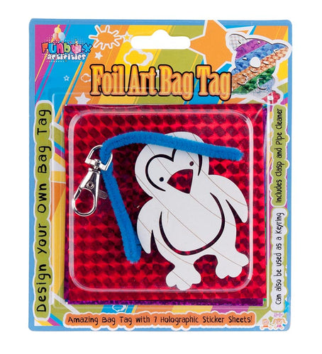 Amazing Penguin Foil Art Bag Tag