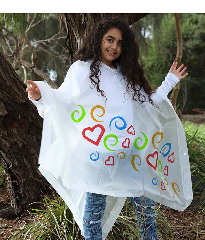 Colour-In Poncho- Stay trendy & dry this winter!