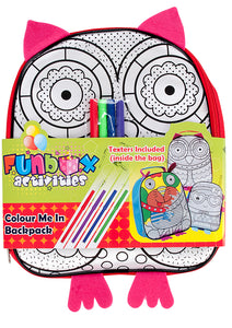 Owl Colour-In Backpack From $2.95
