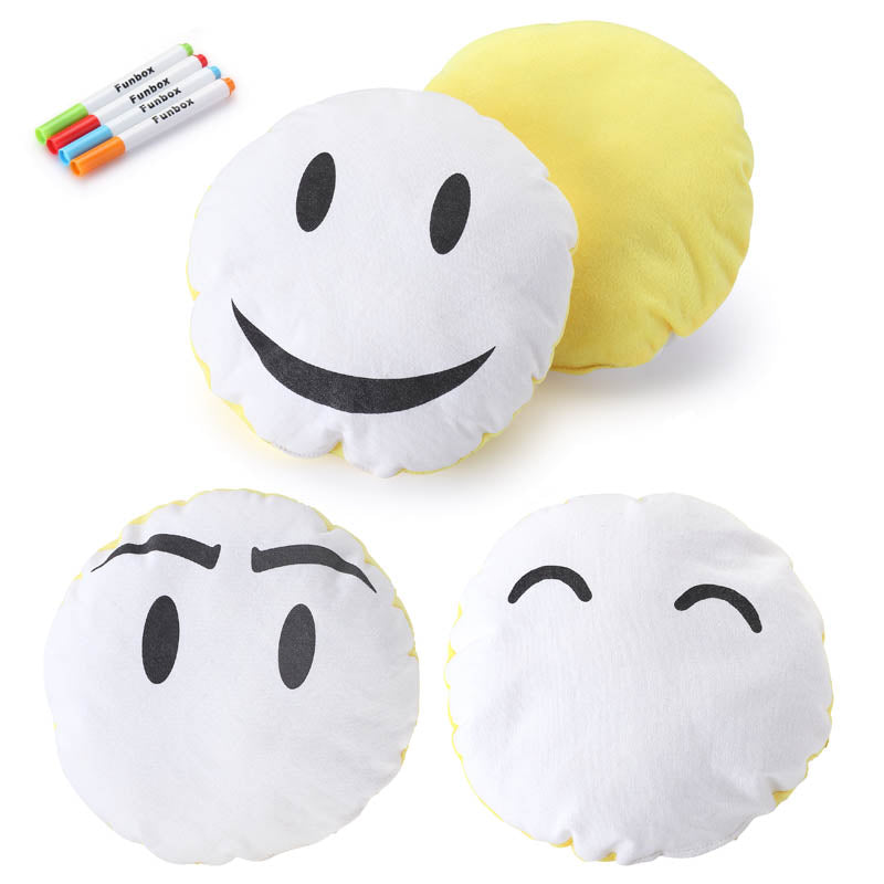 Emoji Pillow with Fabric Markers