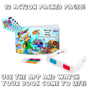 Benny and Koby Visit The Great Barrier Reef Activity Book - Now with AR!