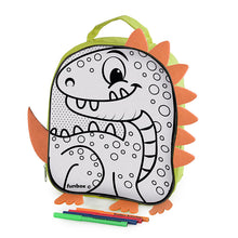 Load image into Gallery viewer, Colour Me In Dinosaur Backpack