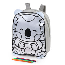 Load image into Gallery viewer, Colour Me In Koala Backpack