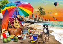 Load image into Gallery viewer, Beach Time Puzzle 1,000 pieces