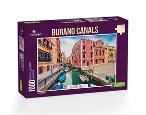 Burano Canals 1000pc: Due Mid July