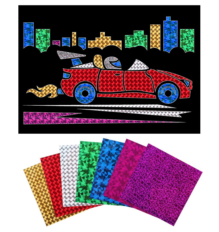 Racing Car Foil Art Activity Pack