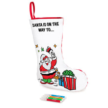 Load image into Gallery viewer, Colour-In Christmas Stocking- Non Woven Fabric - From 79c
