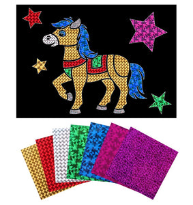 Horse Foil Art Activity Pack