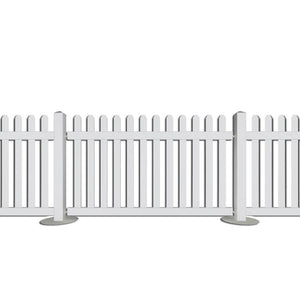 White Picket Fence Post