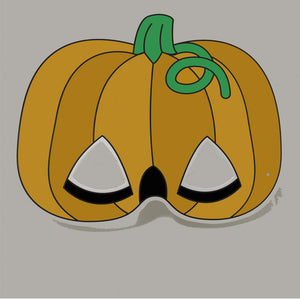 Jack-o-lantern Pumpkin Colour-In Mask - from 49c