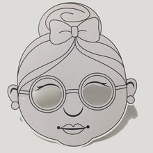 Load image into Gallery viewer, Mrs. Claus Colour-In Mask - from 49c - EARLY BIRD SPECIAL 10% OFF*