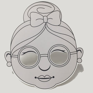 Mrs. Claus Colour-In Mask - from 49c - EARLY BIRD SPECIAL 10% OFF*