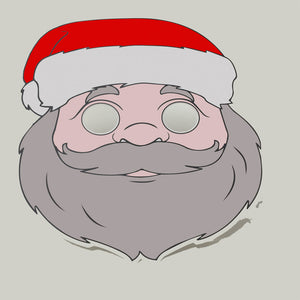 Santa Colour-In Mask - from 49c