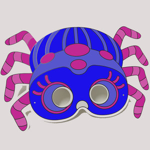 Spider Colour-In Mask - from 50c