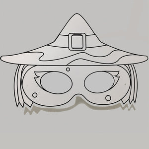 Witch Colour-In Mask - from 50c