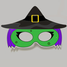 Load image into Gallery viewer, Witch Colour-In Mask - from 50c