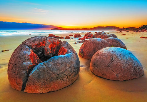 Moeraki Boulders - New Zealand 1000 Pieces