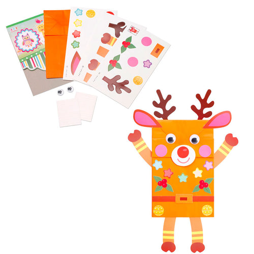 Reindeer Paper Bag Kit - from 99c