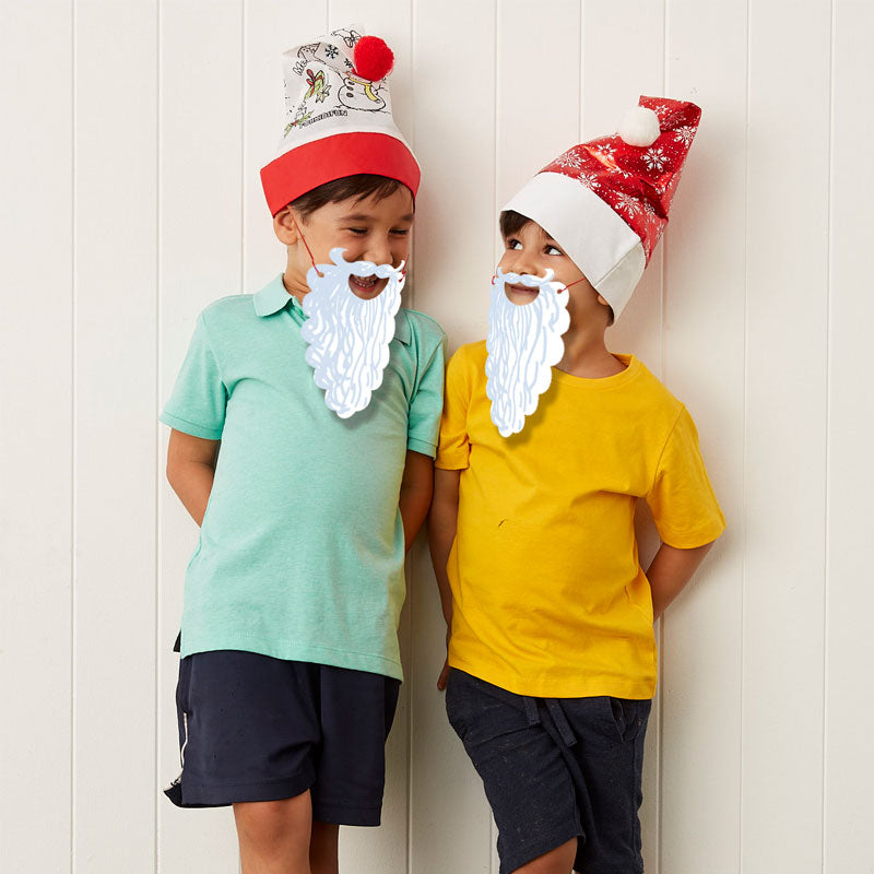 Santa Colour-In Beard - pack of 20