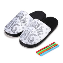 Load image into Gallery viewer, Colour-In Dream Big Slippers