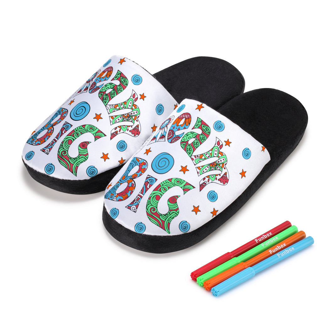 Colour-In Dream Big Slippers