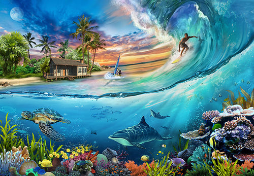 Surf Is Up! Jigsaw Puzzle 1000 Pieces