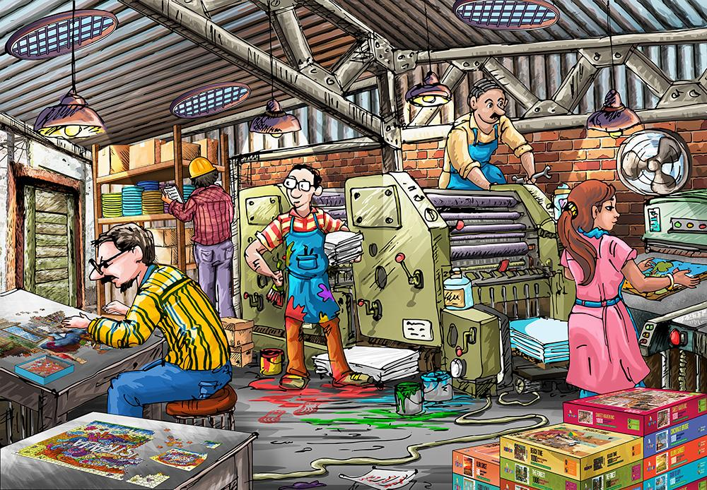 Pre-Order: The Puzzle Factory 1000 Pieces